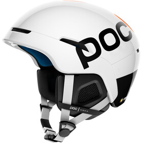 POC Obex BC SPIN Casque, hydrogen white/fluorescent orange AVIP